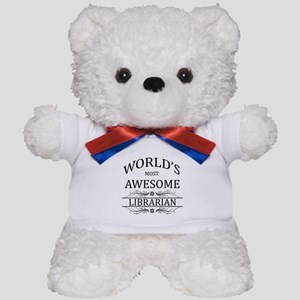 World's Most Awesome Librarian Teddy Bear