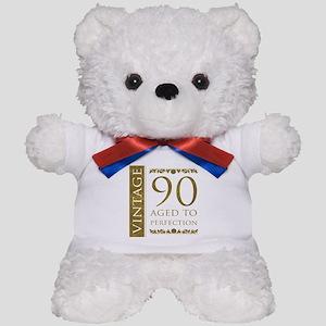 Fancy Vintage 90th Birthday Teddy Bear