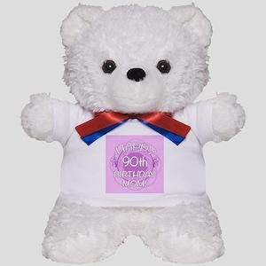 90th Birthday For Mom (Floral) Teddy Bear