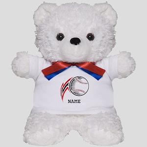 Personalized Baseball Pitch Teddy Bear