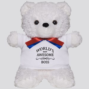 World's Most Awesome Boss Teddy Bear