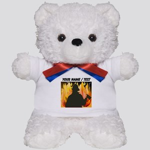 Custom Silhouetted Firefighter Teddy Bear