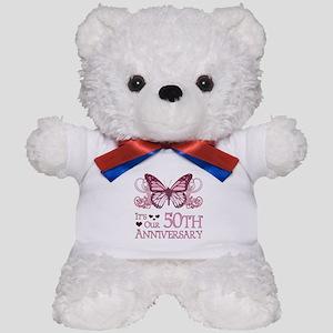 50th Wedding Aniversary (Butterfly) Teddy Bear
