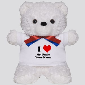 I Heart My Uncle (Your Name) Teddy Bear