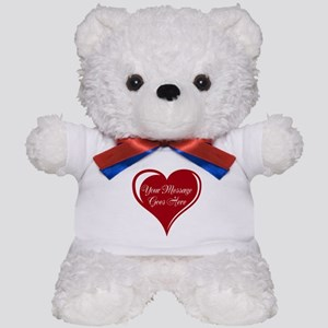 Your Custom Message in a Heart Teddy Bear
