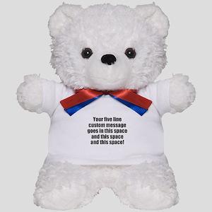 Super Mega Five Line Custom Message Teddy Bear