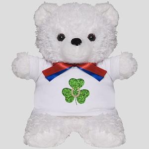 Glitter Shamrock And Horseshoe Teddy Bear