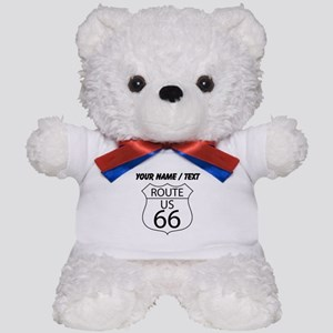 Custom U.S. Route 66 Sign Teddy Bear