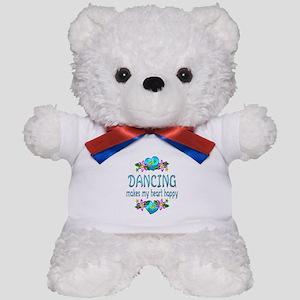 Dancing Heart Happy Teddy Bear