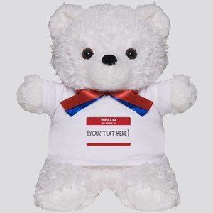 Name Tag Big Personalize It Teddy Bear