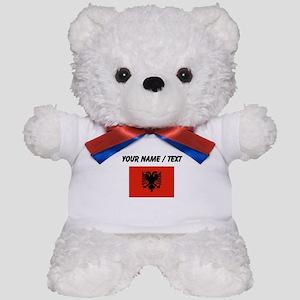 Custom Albania Flag Teddy Bear