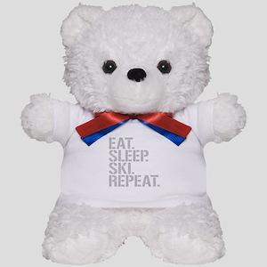 Eat Sleep Ski Repeat Teddy Bear