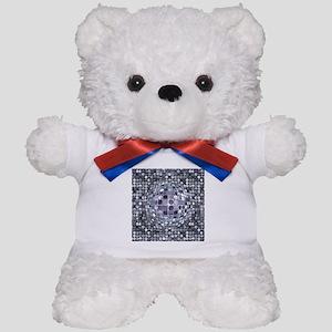 Optical Illusion Sphere - Monochrome Teddy Bear