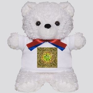 Optical Illusion Sphere - Yellow Teddy Bear