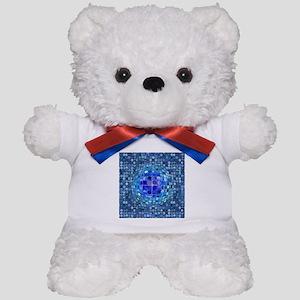 Optical Illusion Sphere - Blue Teddy Bear