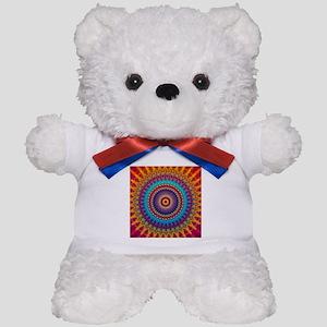 Fire and Ice mandala Teddy Bear