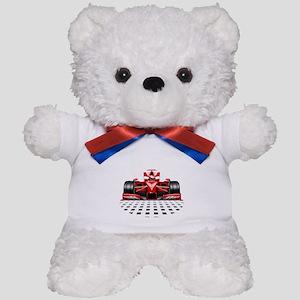 Formula 1 Red Race Car Teddy Bear