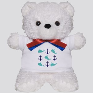 Whales and Anchors Teddy Bear