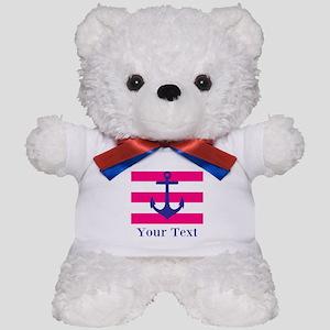 Personalizable Anchor Teddy Bear