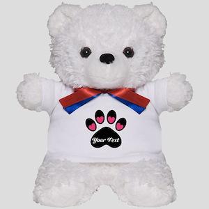 Personalizable Paw Print Teddy Bear