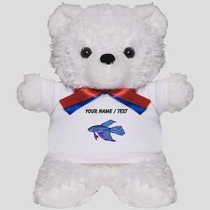 Custom Blue Betta Fish Teddy Bear