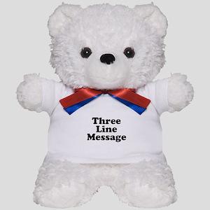 Big Three Line Message Teddy Bear