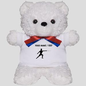 Custom Fencer Silhouette Teddy Bear