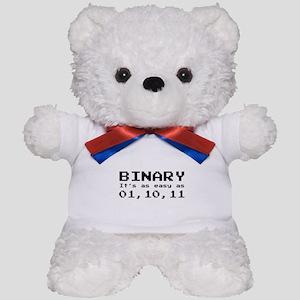 Binary It's As Easy As 01,10,11 Teddy Bear