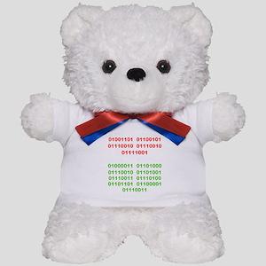Merry Christmas in Binary Teddy Bear