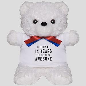 14 Years Birthday Designs Teddy Bear