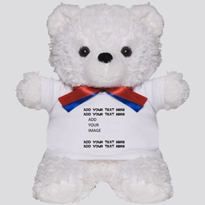 Custom Text and Image Teddy Bear