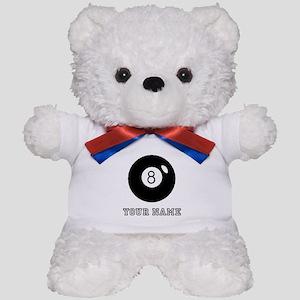 Black Eight Ball (Custom) Teddy Bear