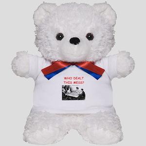 funny bridge joke on gifts and t-shirts Teddy Bear