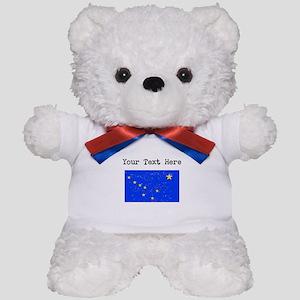 Alaska State Flag (Distressed) Teddy Bear
