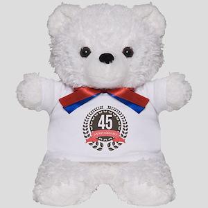 45Years Anniversary Laurel Badge Teddy Bear