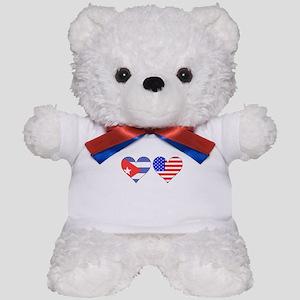 Cuban American Hearts Teddy Bear