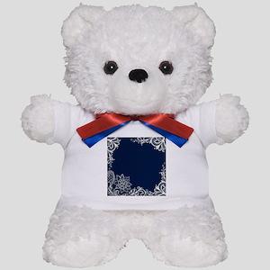 navy blue white lace Teddy Bear