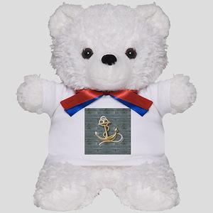 ocean blue wood anchor Teddy Bear