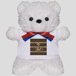 shabby chic vintage anchor Teddy Bear