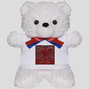 bohemian gothic red rhinestone Teddy Bear