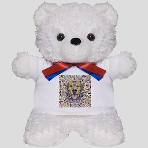 Rainbow Dog Teddy Bear