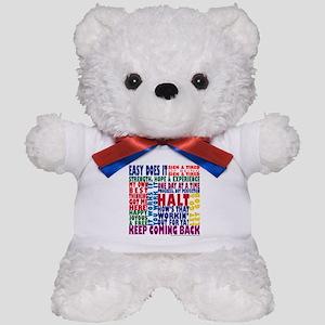 AA 12 Step Slogans 8k Teddy Bear