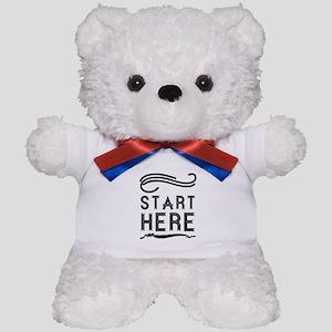 Start Here Teddy Bear