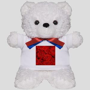 modern love red rose Teddy Bear