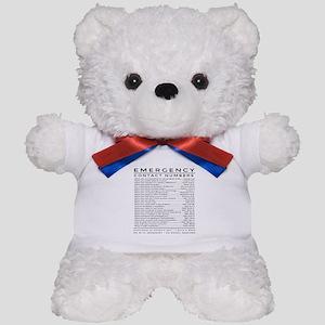 bible emergency number Teddy Bear