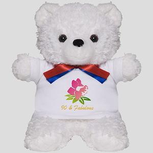 90 & Fabulous Flower Teddy Bear