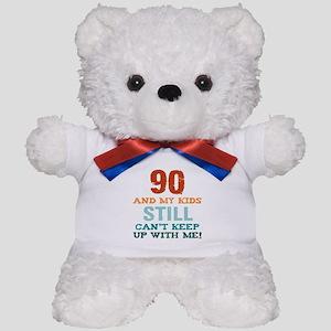 90th Birthday For Parents Teddy Bear