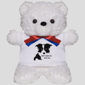 Border Collie Art Teddy Bear