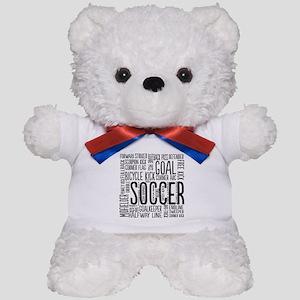 Soccer Word Cloud Teddy Bear