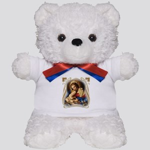 Mary was Pro-Life (square) Teddy Bear